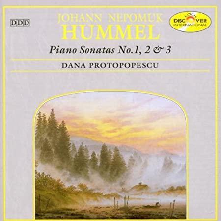 HUMMEL JOHANN NEPOMUK – Piano Sonatas No. 1, 2 & 3