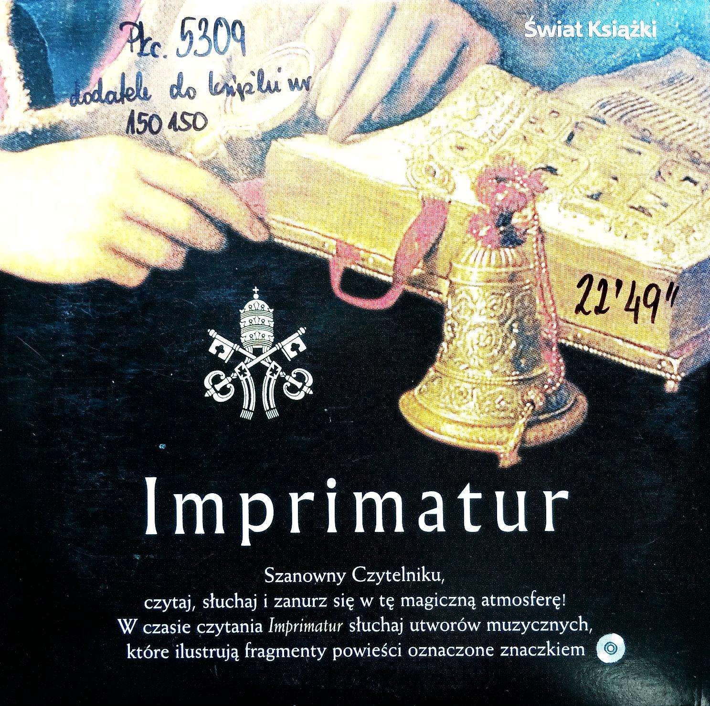 Imprimatur (dodatek Do Książki)