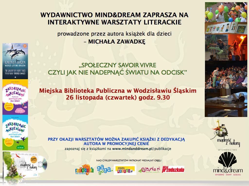 Warsztaty Z Michałem Zawadką