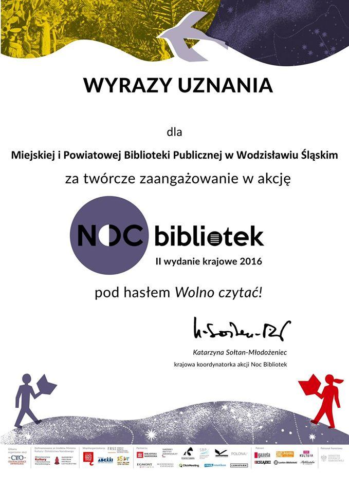 Noc Bibliotek – Dyplom