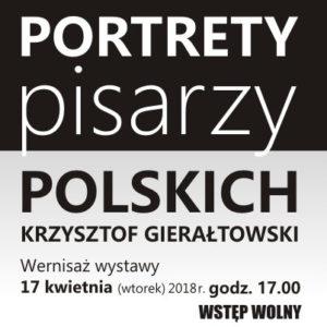 PORTRETY PISARZY POLSKICH – Krzysztof Gierałtowski