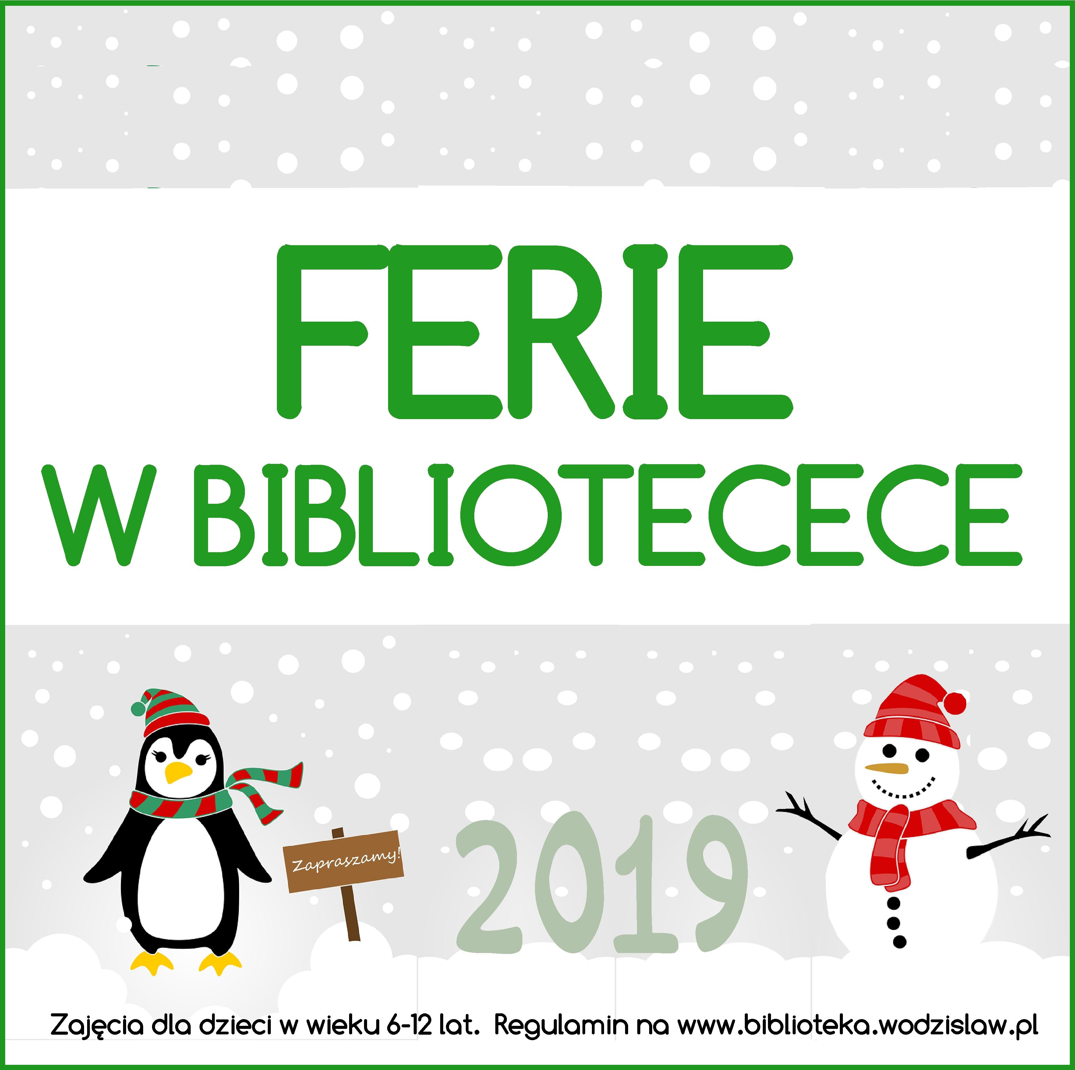 FERIE W BIBLIOTECE 2019