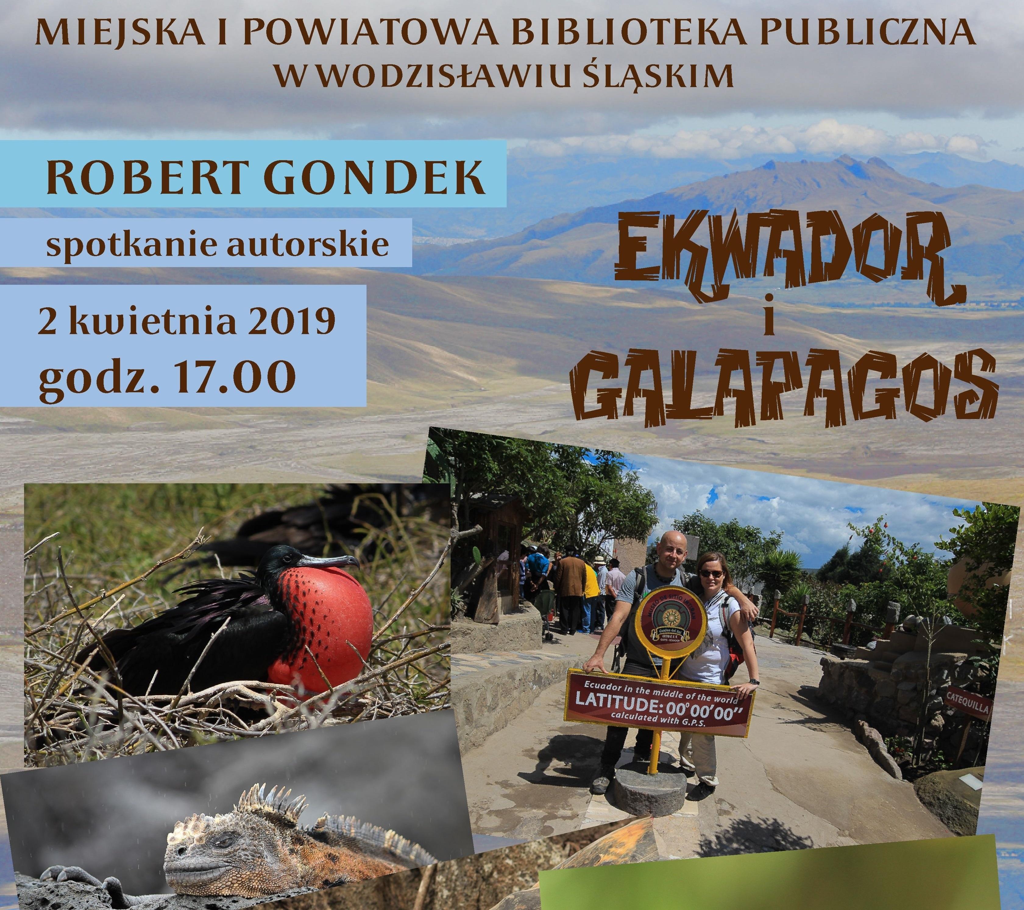 SPOTKANIE AUTORSKIE Z ROBERTEM GONDKIEM – 2 Kwietnia 2019 – Godz 17.00