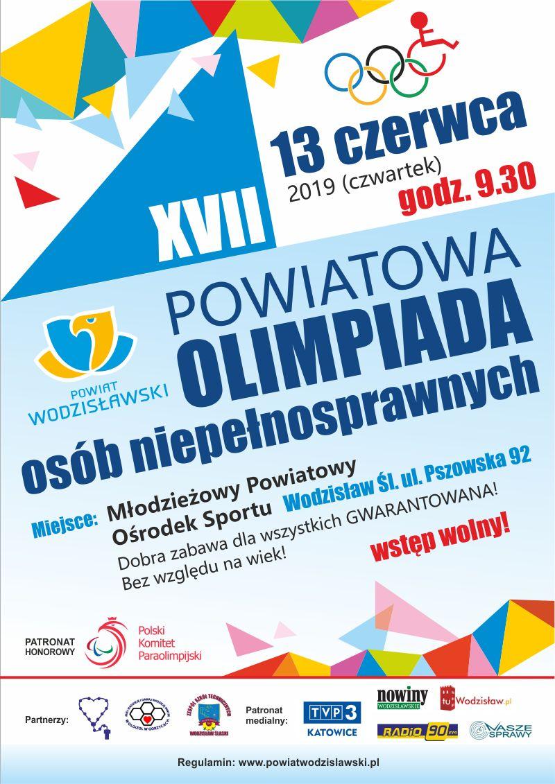 Plakat Olimpiada Osób Niepełnosprawnych