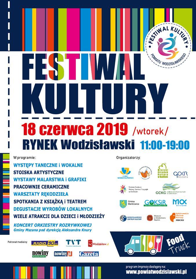 FESTIWAL KULTURY – 18 Czerwca 2019 – Godz. 11.00-19.00