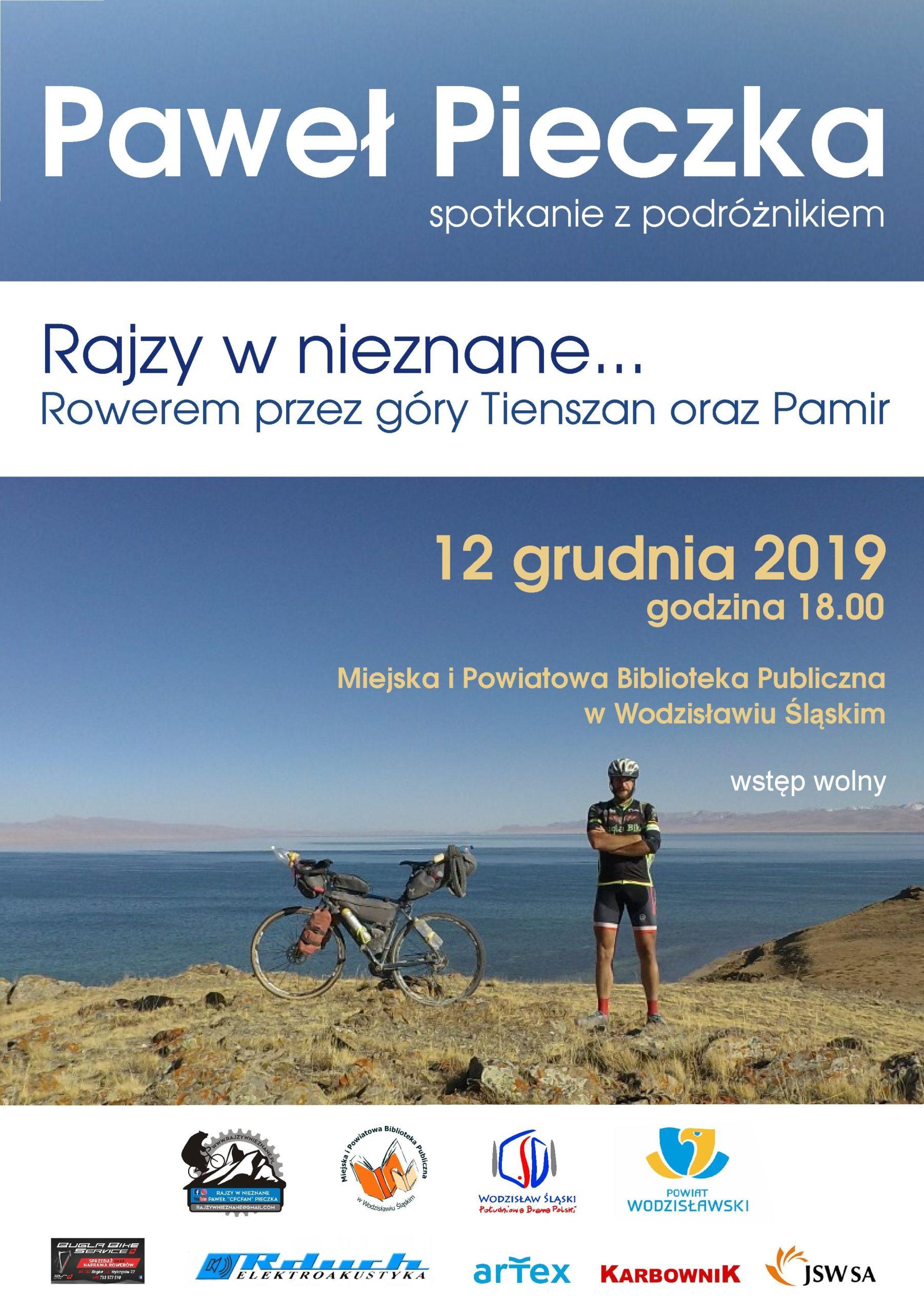 SPOTKANIE Z PAWŁEM PIECZKĄ – 12 Grudnia 2019 – Godz. 18.00