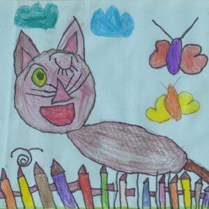 RYSOWANE WIERSZYKI – Wlazł Kotek Na Płotek