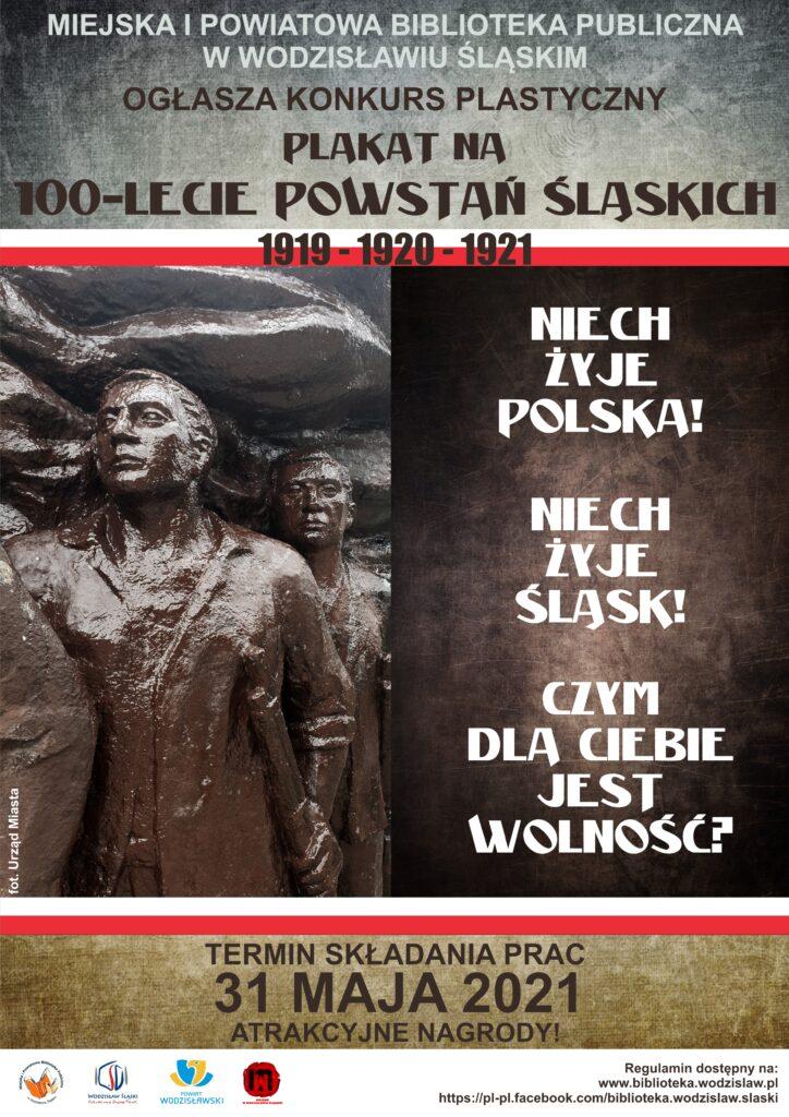 Plakat na 100-lecie Powstań Śląskich 1919-1920-1921 - konkurs plastyczny do 31 maja 2021