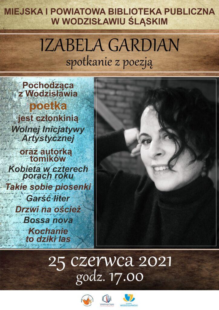 Izabela Gardian. Spotkanie z poezją - 25 czerwca 2021, godz. 17.00