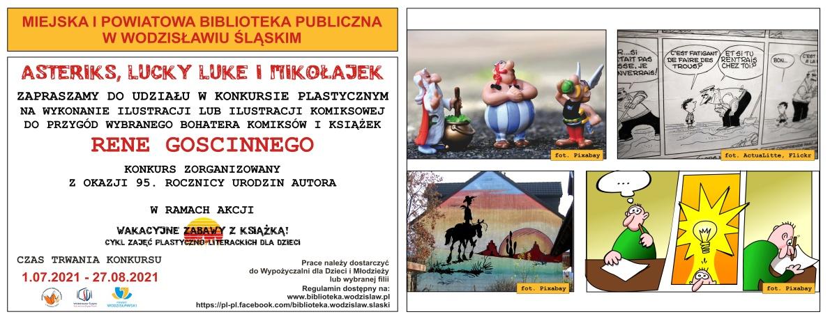 www.baner_.Asteriks-Lucky-Luke-i-Mikołajek-konkurs-plastyczny