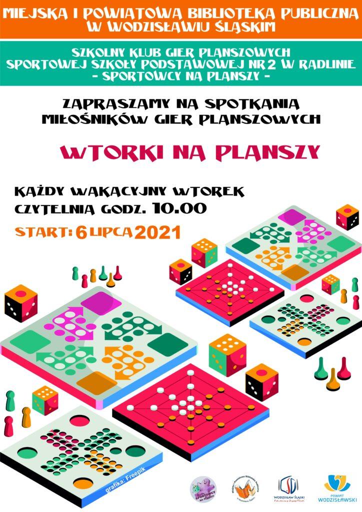 Wtorki na planszy: Zapraszamy na spotkania miłośników gier planszowych - Każdy wakacyjny wtorek - Czytelnia: godz. 10.00 - Start: 6 lipca 2021