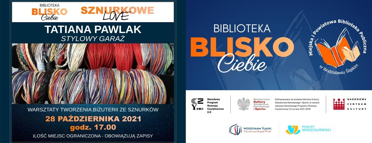 www.baner_.Tatiana-Pawlak-Warsztaty-SznurkoweLove-Biżuteria-ze-sznurków-Projekt-Biblioteka-BLISKO-Ciebie